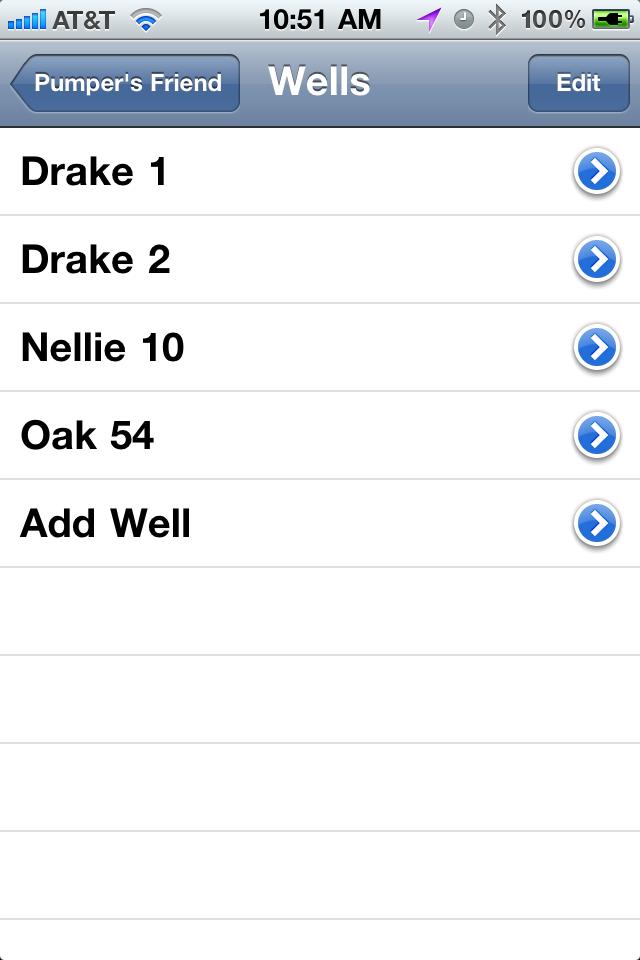 Well List