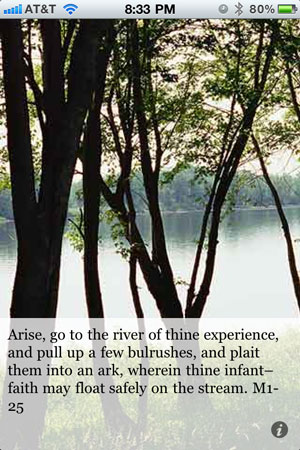 Arise, go to the river of thine experience, and pull up a few bulrushes, and plait them into an ark, wherein thine infant–faith may float safely on the stream. M1-25