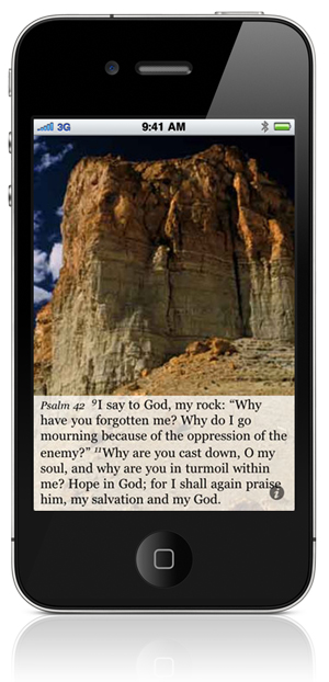"Psalm 42:9 I say to God, my rock: ""Why have you forgotten me? Why do I go mourning because of the oppression of the enemy?"" 11 Why are you cast down, O my soul, and why are you in turmoil within me? Hope in God; for I shall again praise him, my salvation and my God."