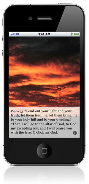 Psalm 43:3 Send out your light and your truth; let them lead me; let them bring me to your holy hill and to your dwelling! 4 Then I will go to the altar of God, to God my exceeding joy, and I will praise you with the lyre, O God, my God.