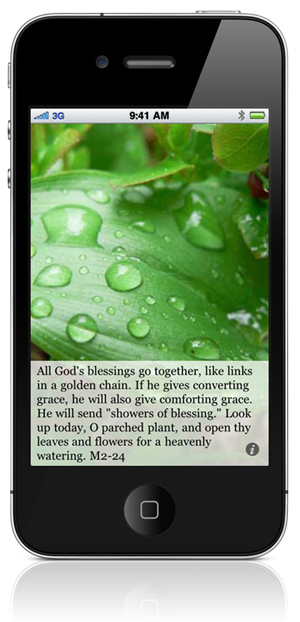"All God's blessings go together, like links in a golden chain. If he gives converting grace, he will also give comforting grace. He will send ""showers of blessing."" Look up today, O parched plant, and open thy leaves and flowers for a heavenly watering. M2-24"