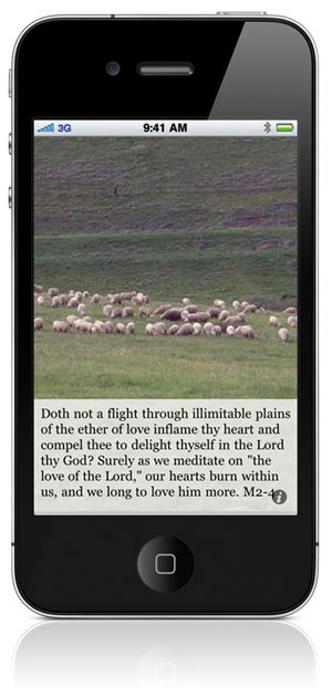 "Doth not a flight through illimitable plains of the ether of love inflame thy heart and compel thee to delight thyself in the Lord thy God? Surely as we meditate on ""the love of the Lord,"" our hearts burn within us, and we long to love him more. M2-4"