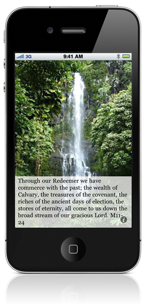 Through our Redeemer we have commerce with the past; the wealth of Calvary, the treasures of the covenant, the riches of the ancient days of election, the stores of eternity, all come to us down the broad stream of our gracious Lord. M11-24