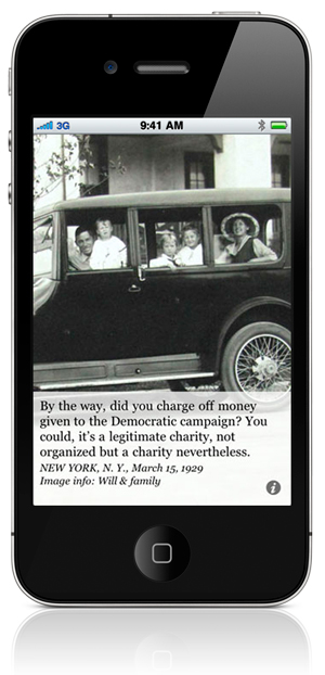 By the way, did you charge off money given to the Democratic campaign? You could, it's a legitimate charity, not organized but a charity nevertheless. NEW YORK, N. Y., March 15, 1929