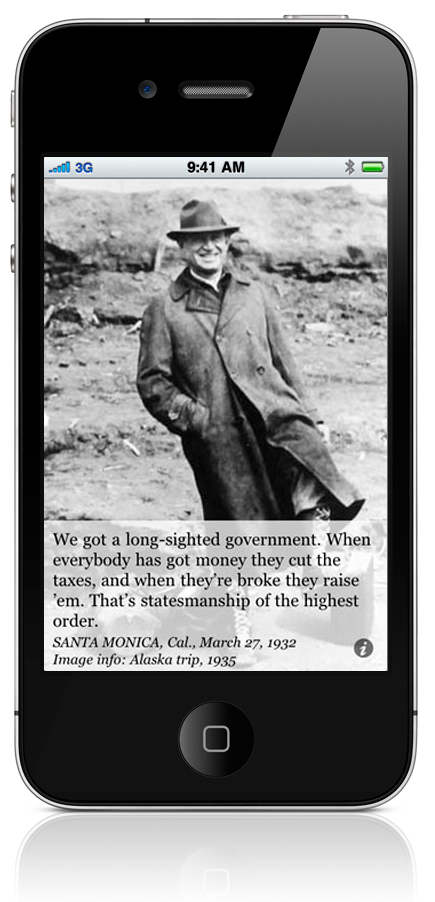 We got a long-sighted government. When everybody has got money they cut the taxes, and when they're broke they raise 'em. That's statesmanship of the highest order. SANTA MONICA, Cal., March 27, 1932