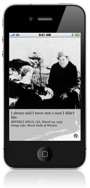 I always said I never met a man I didn't like. BEVERLY HILLS, Cal., March 24, 1933