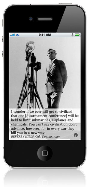 I wonder if we ever will get so civilized that one [disarmament conference] will be held to limit submarines, airplanes and chemicals. You can't say civilization don't advance, however, for in every war they kill you in a new way. BEVERLY HILLS, Cal., Dec. 22, 1929